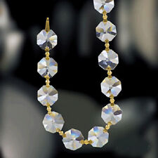 Set of 22 - 14mm Clear Crystal Beaded Chain 1080 Crystal Garland- Gold Pins
