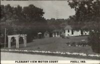 Paoli IN Pleasant View Motor Court 1950s Postcard