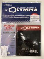 jacques brel concerts mythiques de l'olympia 1964 1 cd + 1 livre neuf  blister