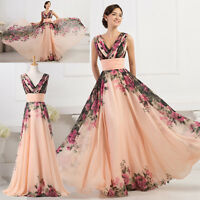 Long Bridesmaid Evening Prom Formal Ball Gown Party MAXI Dress PLUS SIZE 20-26