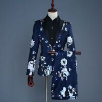 Floral Printed Suit Set For Men Casual Special Events Single Breasted Suits Wear