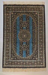 48 x 72 inch All Blue Silk Rug 4 x 6 feet Traditional rug KPSI 400 BESTRUGPLACE