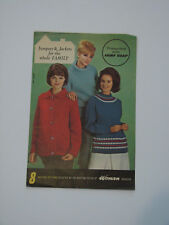 Knitting Pattern 8 Jumpers & Jackets for the family Booklet from Fairy Soap