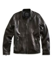 NwoT Lucky Brand Men's Black Lamb Skin Bonneville Cafe Racer Motorcycle Jacket X