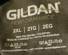 Gildan Performance Shirt Mens 2XL Gray Tagless Moisture Wicking Breathable poly!