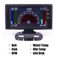"5 "" Digital Auto Gauge Oil Pressure Gauge oil temp  VOLT Water Temp RPM 6 in 1"