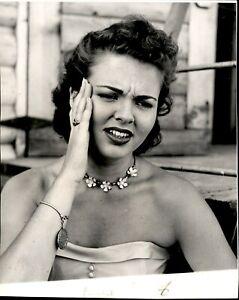 LG920 1953 Original Photo BEBE SHOPP Miss America Cherubic Face Miss America