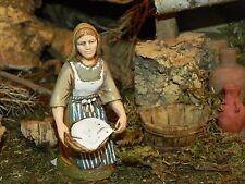 Christmas Manger Scene Figurines Italian Presepio Woman Villager Figura Pesebre