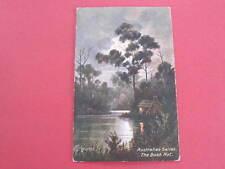 The Bush Hut Australian Series Artist Drawn Postcard J Hutchings