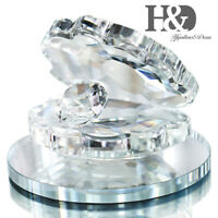 Crystal Glass Diamond Paperweight Seashell Figurine Lady Wedding Gift Home Decor