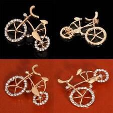 Insignia Clothes Decoration Women's Sh Bicycle Brooch Bike Pin Rhinestone Badge