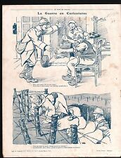 WWI Caricature Guerre Poilus/Map Bulgaria Serbia Greece Turkey 1916 ILLUSTRATION