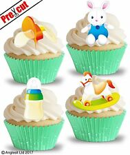 PRE-CUT BABY TOYS & ACCESSORIES III. EDIBLE WAFER CUP CAKE TOPPERS DECORATIONS