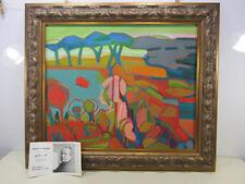 1980's Original Henri Clausen Oil Painting on Masonite Board- Framed
