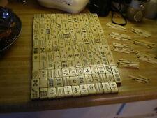 Antique Mah Jong Tiles, 143 and 86 1/2 sticks, Catalin & Bamboo