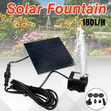 Solar Fountain Water Pump Panel Garden Pond Pool Submersible Watering _CH