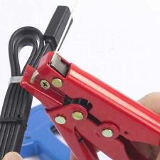 Red Nylon Carbon Fasten Cable Zip Tie Tensioning Tightener Cutter Tool Off Gun