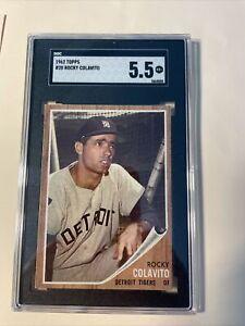1962 Topps #20 Rocky Colavito            Sgc 5.5    Under Graded!