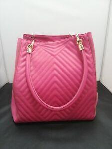 New Look, Hot Pink, Quilted, Shoulder Bag, Gold Details, GA2137, #HS