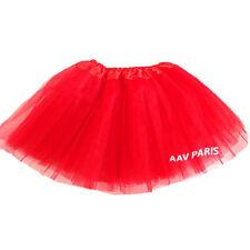 Tutu de Ballet Danse Soirée Jupe Jupon pour filles -  taille unique - rouge