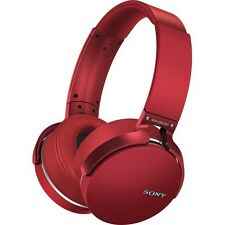"POPULAR SONY MDR-XB950BT/R EXTRA-BASS WIRELESS ""BLUETOOTH"" HEADPHONES - RED"
