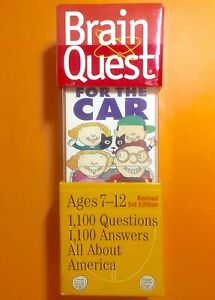 Car Ride Game BRAIN QUEST Revised 3rd Edition ages 7-12 All About America NEW