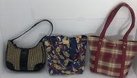 Lot of 3 Longaberger Small Purse Tote Bag Handbag Gift Retired
