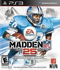Madden NFL 25 -- Anniversary Edition (Sony PlayStation 3, 2013) Game Only