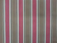 Clarke and Clarke Deckchair Stripe Taupe Designer Curtain Upholstery Fabric