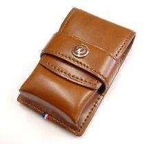 S.T. Dupont Brown Leather Lighter Case For L2, L8, Minijet, Maxijet (180124)