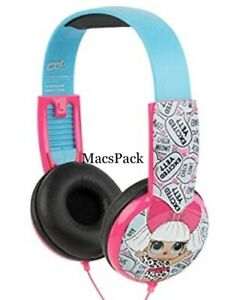 LOL SURPRISE DOLL KID SAFE WIRED HEADPHONES + STICKERS Birthday Gift
