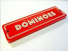 Traditional Parlour Games Dominoes Retro Style Tin Double Six 28 Piece set