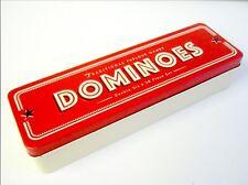 Salón de juegos de dominó tradicionales de estilo retro Tin Doble Seis Juego de 28 piezas