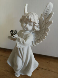 Engel Engelsfigur Figur Deko Herz Dekofigur Dekoengel Schutzengel 25 x 13,5 cm