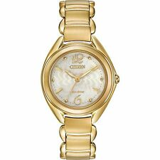 Citizen Eco-Drive Women's FE2072-89A Gold-Tone Ivory Dial Bracelet 31mm Watch