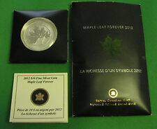 Canada 2012 Maple Leaf Forever Silver 1/2 OZ .999