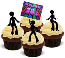 NOVELTY SEVENTIES PARTY MIX 'A' 12 STANDUPS Edible Cake Toppers 70s Disco Fever