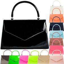 Ladies Structured Patent Clutch Bag Evening Box Bag Handbag Wedding Bag K41088
