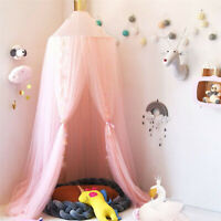 Bed Canopy- Princess Baby Dome Bed Canopy Mesh Gauze Kids Bed Mosquito Net