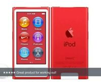 Apple iPOD NANO 7th Gen 16GB PRODUCT RED A1446 (Latest Model) Limited Edition