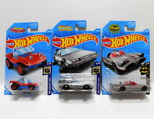 Lot of 3 Hot Wheels Batmobile Spider Mobile Back to the Future Time Machine