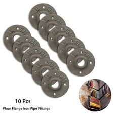 10 pcs Industrial Black Malleable Threaded Iron Floor Flange Pipe Fittings 3/4''