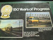 GWR 150 years of Progress  a British Rail publication A4 size pb