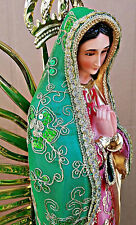Virgen De Guadalupe, Our Lady Of Guadalupe STATUE De Tela **31 INCH Handcrafted