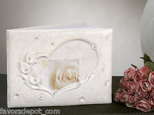 Calla Lily Heart Guest Book and Pen Set Wedding Guest Book or any event