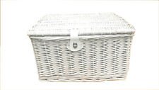 Traditional Wicker Willow Xmas Christmas Picnic Hamper Lidded Gift Empty Storage
