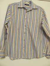 Mens L/S Button Down Mondo Di Marco, European Fabric, Size LG 100% Cotton