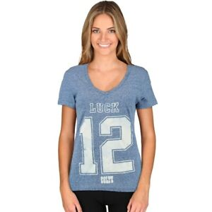 Andrew Luck Indianapolis Colts Majestic Women's small shirt blue