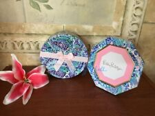 NWT LILLY PULITZER SET  Wave After Wave Octagon Photo Frame + ROUND DressY Box
