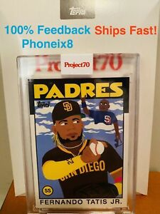 🔥IN-HAND- 2021 Topps Project 70 #61 Fernando Tatis Jr by Keith Shore ⚾